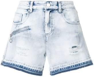 Versace washed denim shorts
