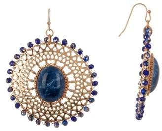 Melrose and Market Beaded Filigree & Stone Disc Dangle Earrings