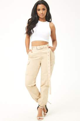 Forever 21 Belted Cargo Joggers