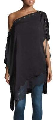 Peserico Silk-Blend Lace-Up Tunic