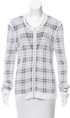 Narciso Rodriguez Patterned Zip-Up Sweater
