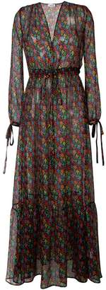 Au Jour Le Jour sheer floral print dress