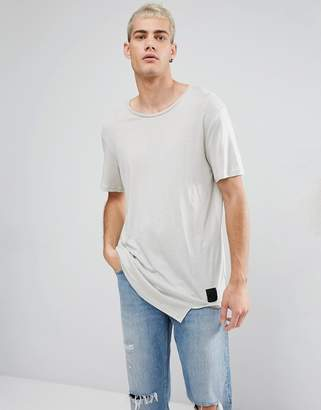 Cheap Monday Divide Asymmetric Hem T-Shirt Ecru