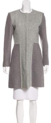 Thakoon Colorblock Virgin Wool Coat