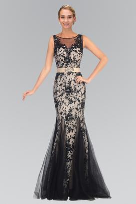 Elizabeth K - Illusion Bateau Neckline Lace Mermaid Gown GL2009 $743 thestylecure.com