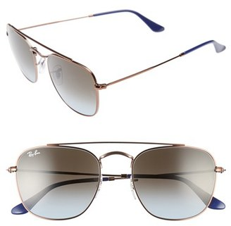 Women's Ray-Ban Icons 54Mm Aviator Sunglasses - Brown/ Blue $165 thestylecure.com