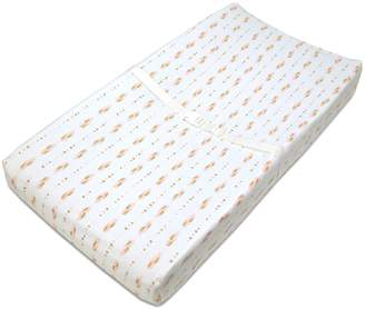 T.L.Care Tl Care TL Care Feather Print Fitted Contoured Changing Table Pad Cover