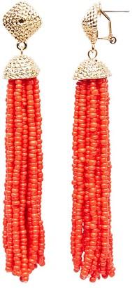 AQUA Leslie Tassel Drop Earrings - 100% Exclusive $22 thestylecure.com