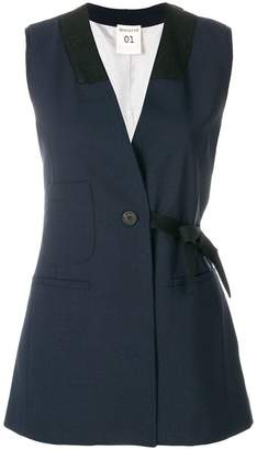 Semi-Couture Semicouture sleeveless buttoned jacket
