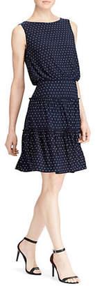 Lauren Ralph Lauren Dotted Matte Jersey Dress