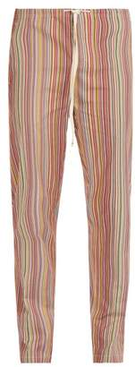 Paul Smith Striped Cotton Pyjama Trousers - Mens - Multi