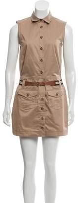 Dolce & Gabbana Belted Sleeveless Shirtdress