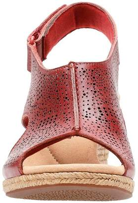 Clarks Lafley Rosen Wedge Sandals - Red