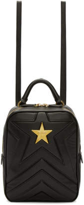 Stella McCartney Black Small Quilted Star Backpack