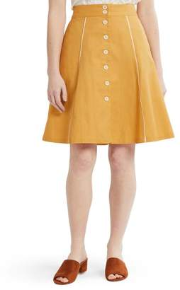 faaa1c829cc54a ModCloth Button Front A-Line Skirt (Regular & Plus Size)