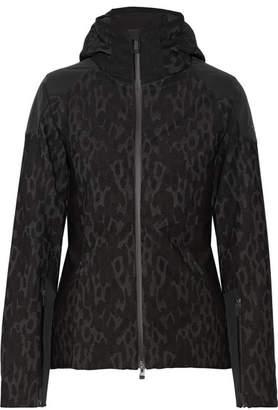 Kjus - Freelite Paneled Printed Stretch-knit Ski Jacket - Black