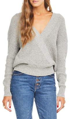 ASTR the Label Stephanie Surplice Sweater