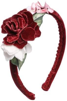 MonnaLisa Roses Velvet Headband