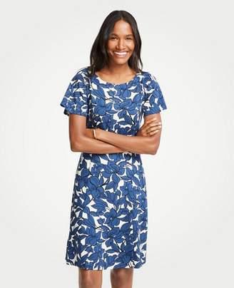 Ann Taylor Tall Iris Short Sleeve Flare Dress