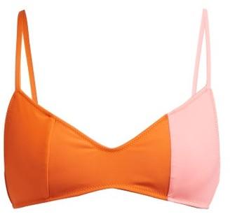 Araks Elsa Two Tone Bikini Top - Womens - Orange