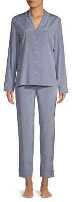 Stella McCartney Two-Piece Poppy Snoozing Stretch-Silk Pajama Set