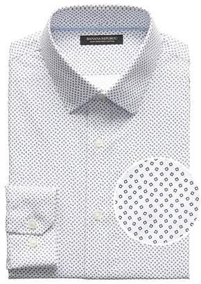 Banana Republic Grant Slim-Fit Non-Iron Confetti Print Dress Shirt