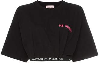 Natasha Zinko logo-hem cropped T-shirt