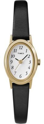 Timex Women's Cavatina Watch, Black Leather Strap