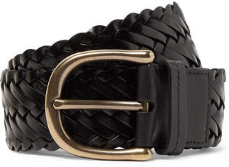 94048c0951bb Tom Ford 4cm Black Woven Leather Belt