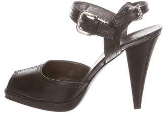 Prada Leather Ankle-Strap Sandals