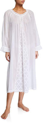 Celestine Elaine Scoop-Neck Long-Sleeve Nightgown