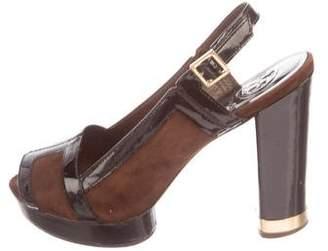 Tory Burch Patent Leather Peep-Toe Pumps