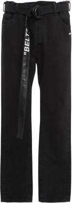 Off-White Belted Slim-Leg Jeans
