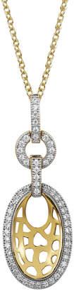 Lafonn 18K Over Silver Simulated Diamond Lotus Necklace