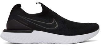Nike Black and White Epic Phantom React Flyknit Sneakers