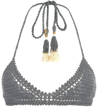 SHE MADE ME Essential 70s halterneck crochet bikini top $95 thestylecure.com