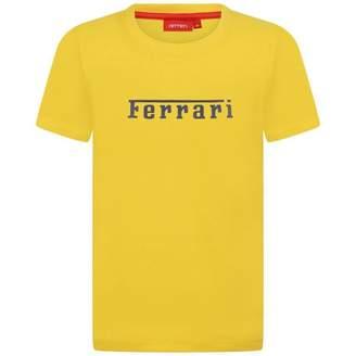 Ferrari FerrariBoys Yellow Cotton Pique Top
