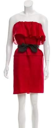 Derek Lam Off-The-Shoulder Silk Dress