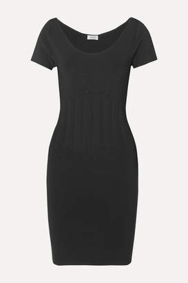 Thierry Mugler Ribbed Stretch-knit Mini Dress