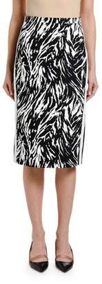 No.21 No. 21 Zebra-Print Pencil Skirt