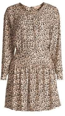 Rebecca Taylor Leopard Mini Dress