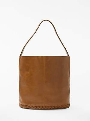 Isabella Collection AND/OR Leather Whipstitch Bucket Bag
