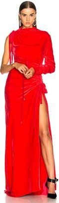 Monse Velvet Drawstring Gown