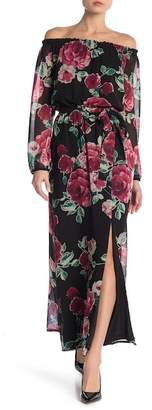 Nine West Floral Printed Maxi Dress