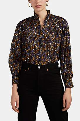 Masscob Women's Agnes Floral Cotton Blouse - Black