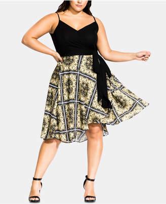 dcddb9f0d8894 City Chic Trendy Plus Size Wrap Dress