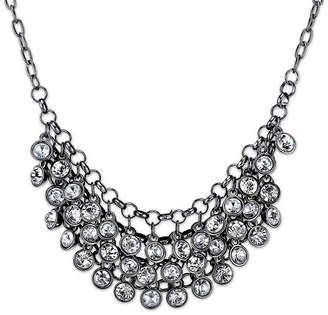 1928 Jewelry Crystal Black-Tone Necklace