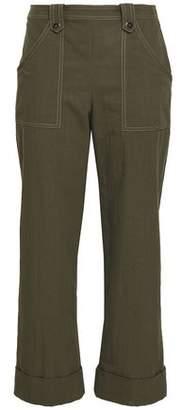 Vanessa Seward Gabardine Straight-Leg Pants
