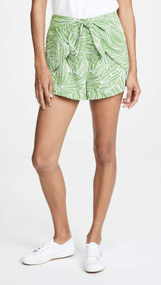 Lost + Wander Vines Tie Front Shorts