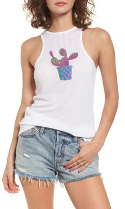 Women's Obey Cactus Graphic Tank $39 thestylecure.com